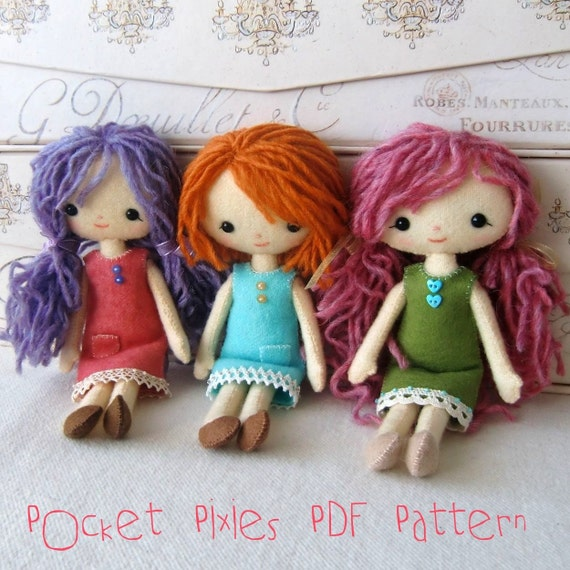 Pocket Pixie PDF Pattern - Help Japan