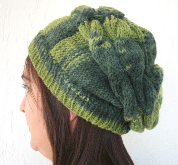 Slouchy Beanie  Hat By EbrukHand Knit Slouch  HatWinter by Ebruk from etsy.com