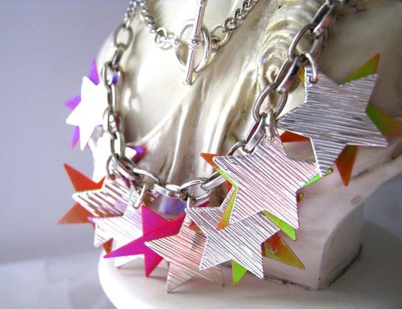 Necklace Stars - Help Japan Donation  Relief (Donated by KolibriKado) Free Shipping