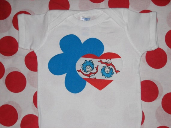 Thing 1 and Thing 2 flower shirt