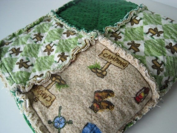 Soft Rag Quilt Camping Theme