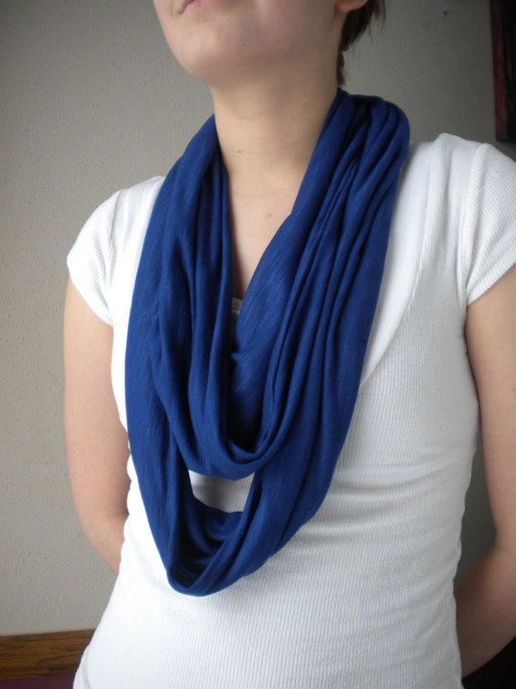 Cobalt Blue Infinity Scarf