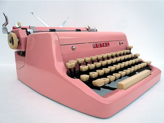 PINK 1950s Royal Typewriter PROFESSIONALLY RESTORED