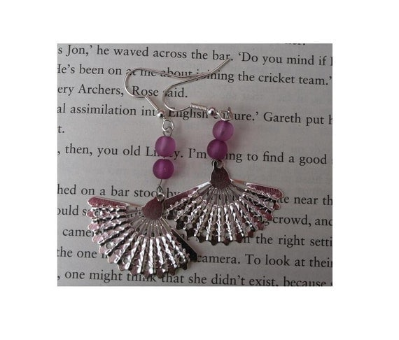 Pink Fan Earrings