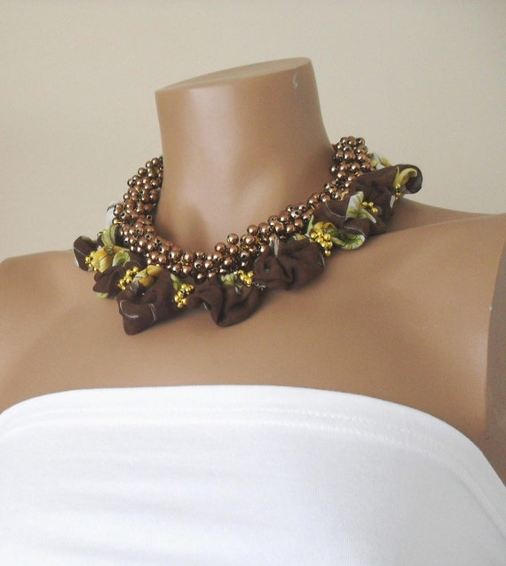Handmade Brown Pearl 2 PCS  Necklace  with Turkish by divaoutlet from etsy.com