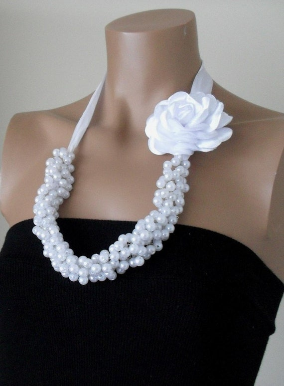 Handmade WeddingsBridal Pearl Necklace Brides by divaoutlet from etsy.com
