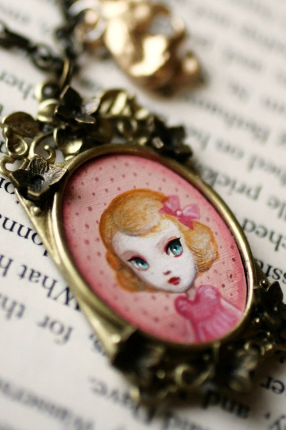 Reserved for Kelly - Little Goldilocks - from the Fairytale Collection - original cameo by Mab Graves