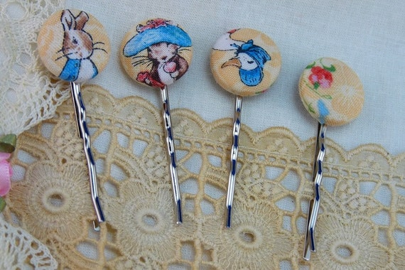 Bobby Pins Bobbettes Beatrix Potter  FREE SHIP Chris
