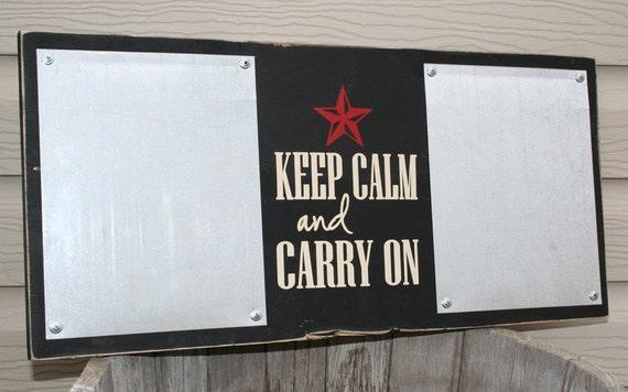 Wooden Decor/ Reminder Board: Keep Calm