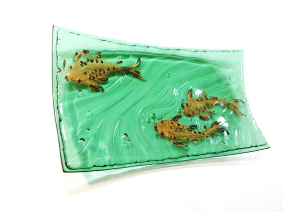 Green Koi Long Platter