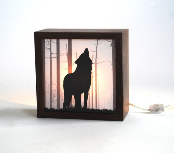 Nightmare guard/ Wolf forest light box (Made to order)