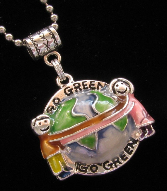 GO GREEN PLANET Charm Bail Ball Chain Necklace