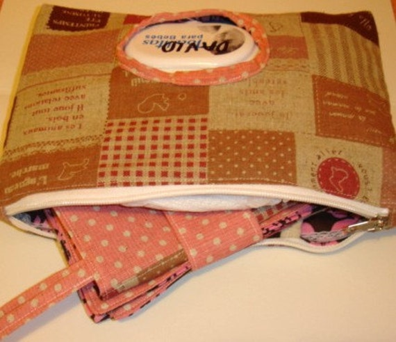 Diaper  and Wipes Purse with Changing Mat - Help Japan Donation Drive