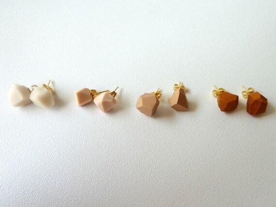 pale pink geo earrings