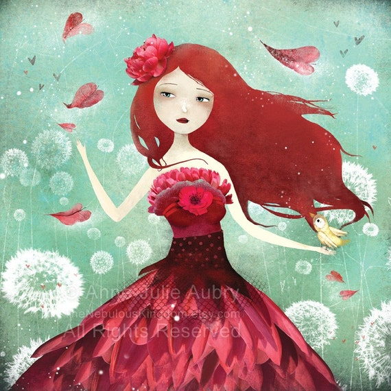 The Flower Fairy - open edition print at 15.00 USD only