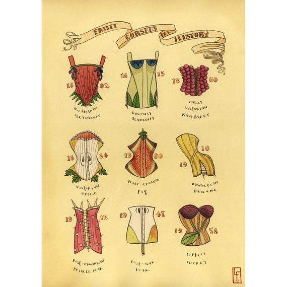 fruit corsets in history (giclee)