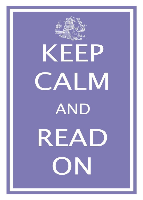 Keep Calm and Read On - 11x17 Plum Poster Buy 1 Get 1 Free Sale