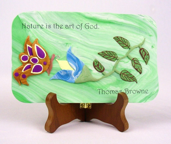 Nature is the Art of God Wall Plaque