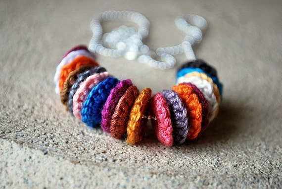 All My Friends Crochet Necklace Create Your Own Color Trend - 2 for 30 dollars