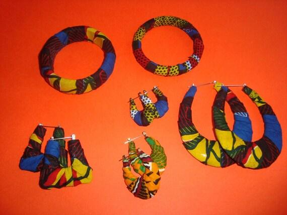 Blue / Yellow African Tribal 'Eve' Mini Door Knockers
