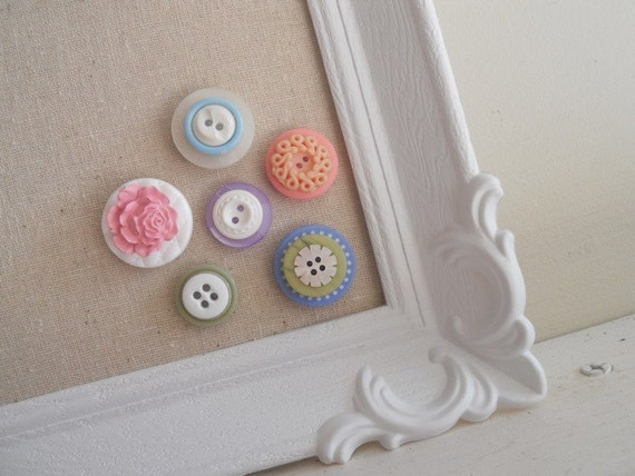 Shades of Pastels Vintage Button Magnet Collection Set
