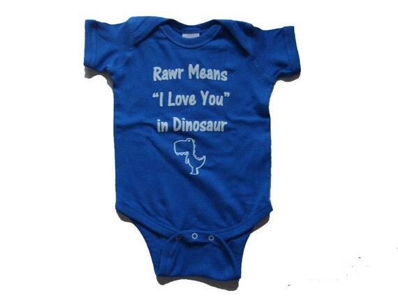 NEW Rawr Means I Love You Graphic Short Sleeve Onesie Baby Bodysuit   Available in NB,6Mo,12Mo,18Mo - ($13)