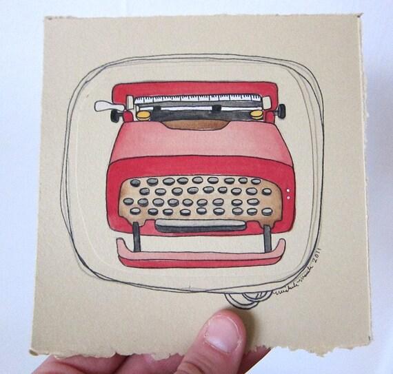 Original Illustration - Typewriter Typewriter