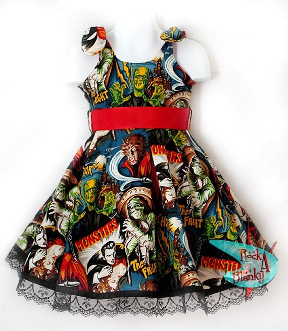 Retro Monster Mash Dress made by Rockablanky
