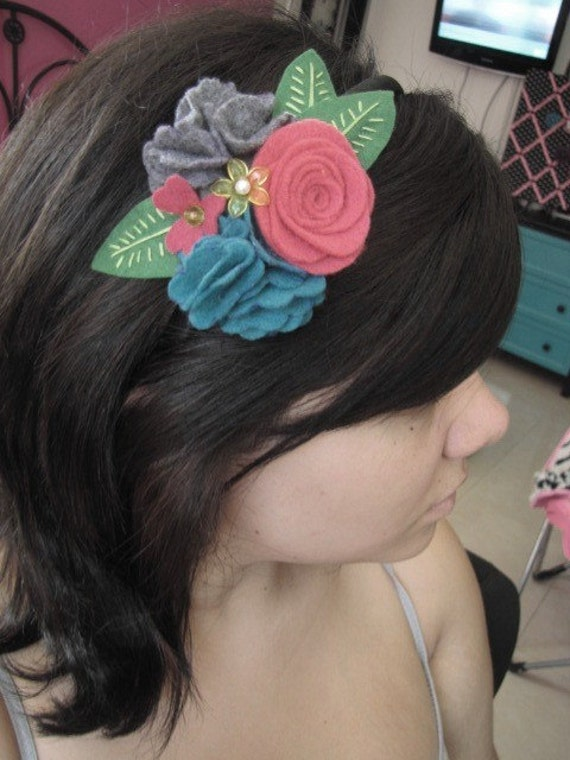 Garden inspired summer flower headband
