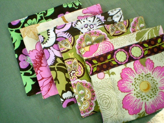 Ready to ship - Set of Five Reusable Snack Bags