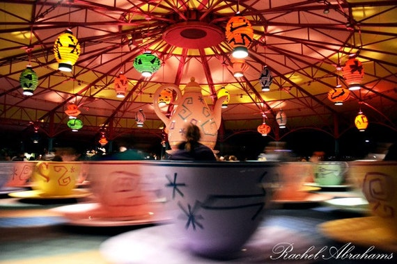 Mad Tea Party: Spinning Into Oblivion - Magic Kingdom, Walt Disney World / Orlando, Florida 8x10 Fine Art Photography