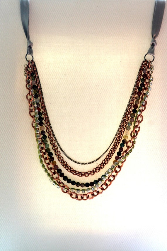 Multiple Strands Necklace (Earth Tones)