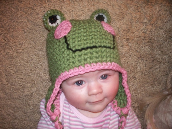 Frog Hat Newborn to 4T