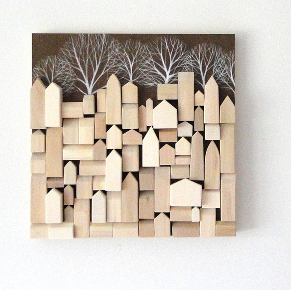 Wood Wall Sculpture - One of a Kind Original Art