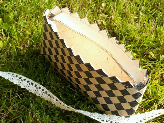 Checkerboard Weave Clutch