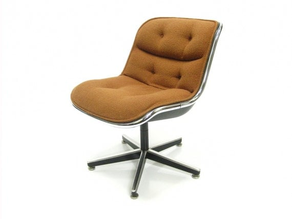 10% SALE - Vintage Modern Knoll Pollock Client Chair