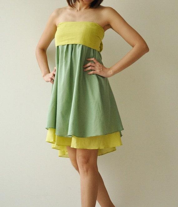 Wind of change Part II.... Green Cotton Dress