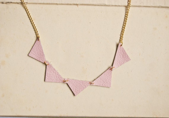 Bunting necklace in candyfloss