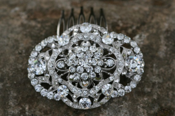 Victorian Style Swarovski Crystal hair comb