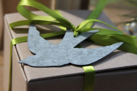 Zinc Bird gift tags set of 2