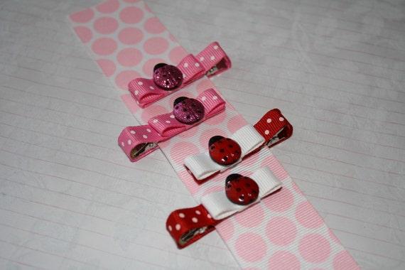 Ladybug Clippies-no slip