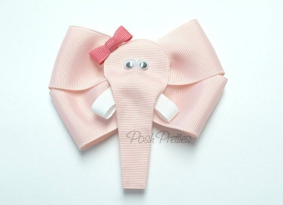 Pink Hair Bow. Adorable pink elephant hair