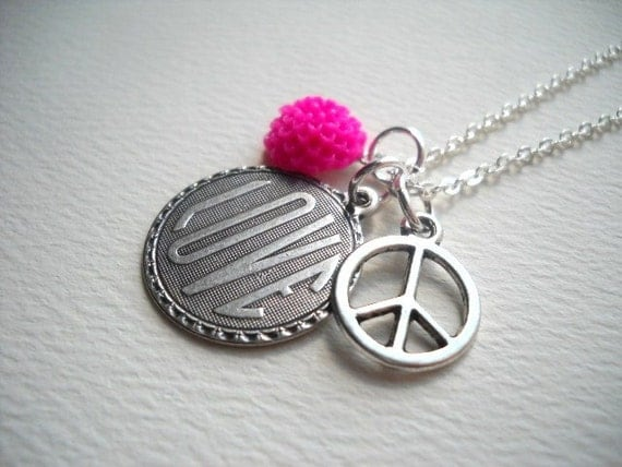 Peace And Love - Necklace
