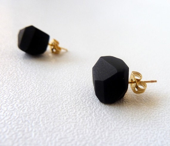 coal geo earrings