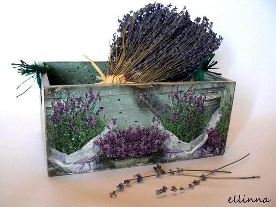 """Деревянные зеленовато / фиолетовый случае травы """"Французская лаванда"""""""