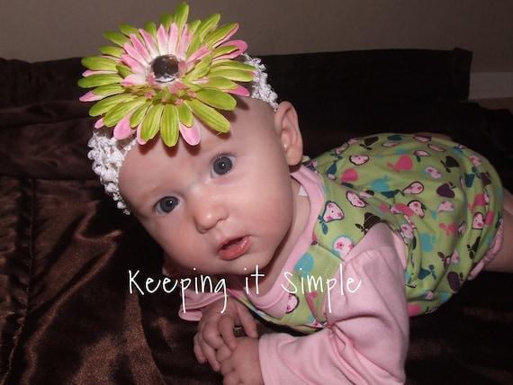 Gerbera daisies hair clips in multiple colors