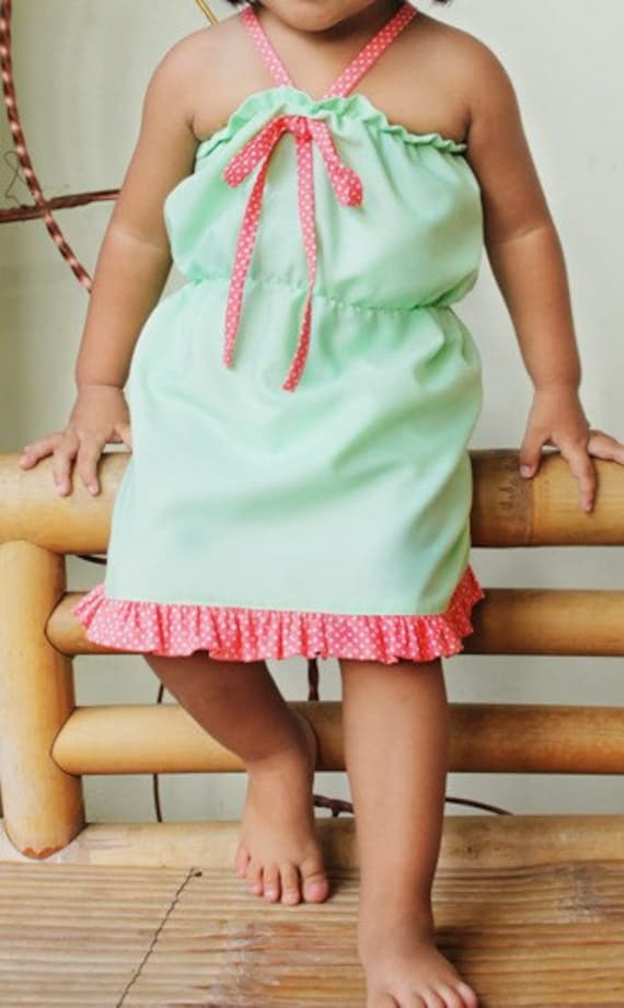 Halter Dress with RUFFLES - PDF sewing PATTERN