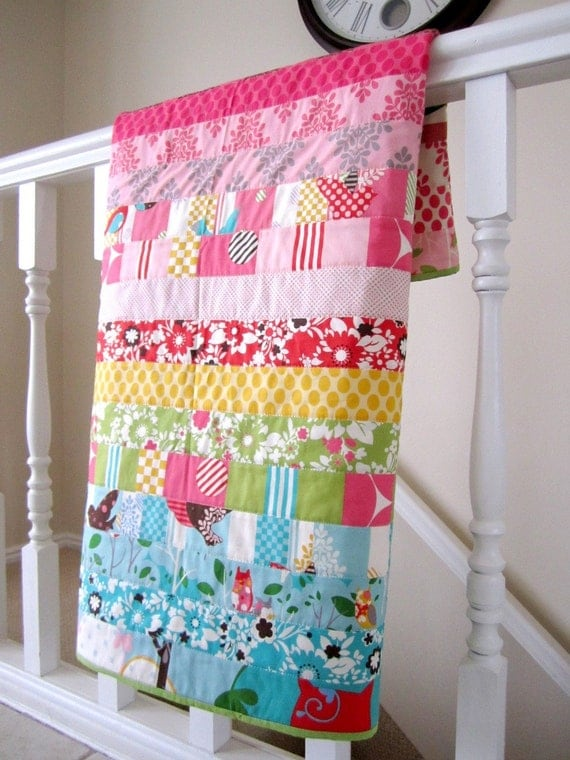 It's A Hoot Baby Girl Quilt