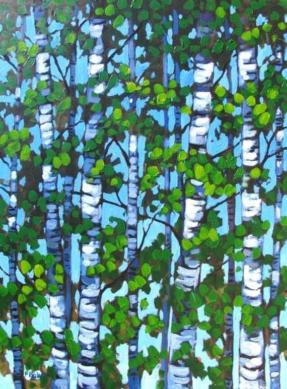 Summer Aspens 24x30 Commissioned Painting