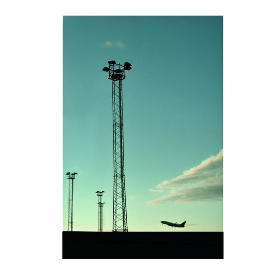 Airport Take-Off (Matted to A4 Size)